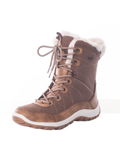 LHOTSE 8516m Afella ženski vodoodporni zimski čevlji - rjavi