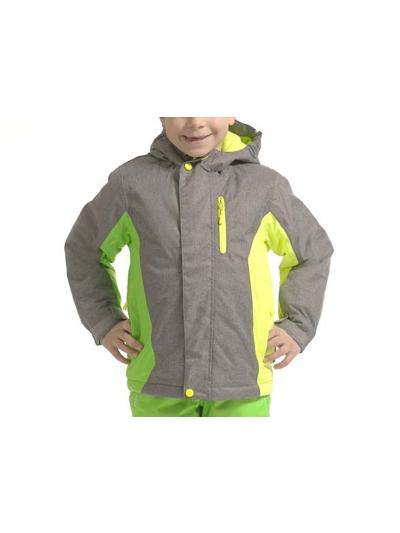 Otroška smučarska jakna Alpine Pro Wiremo2 - siva/zelena