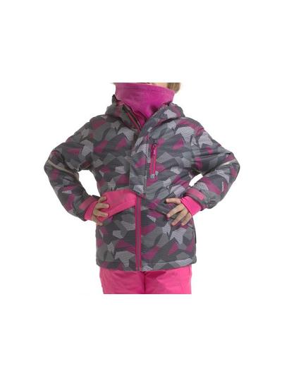 Dekliška smučarska jakna Alpine Pro Agosto - ciklamna
