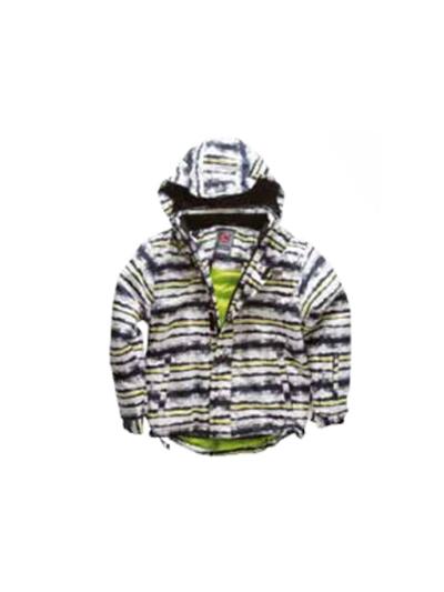 Otroška smučarska jakna American Project TOBY - belo-črna