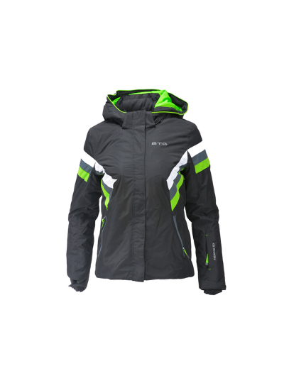Otroška smučarska jakna Biting BEE - črna/zelena
