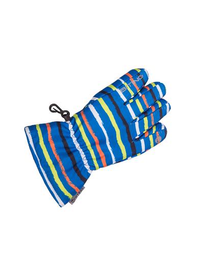 BITING R7 otroške smučarske rokavice - modre/print