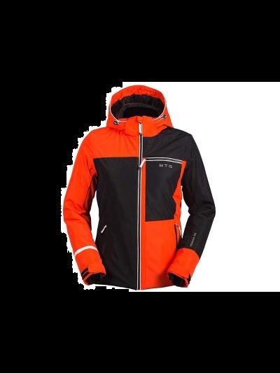 Ženska smučarska jakna Biting MEG - črna/rdeča