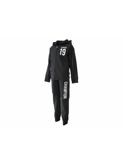 Otroški športni komplet Champion® 304787 jopica s kapuco, dolge hlače črn NBK