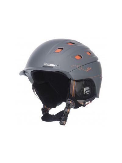 Smučarska čelada CAIRN I-Brid grafit-siva-oranžna
