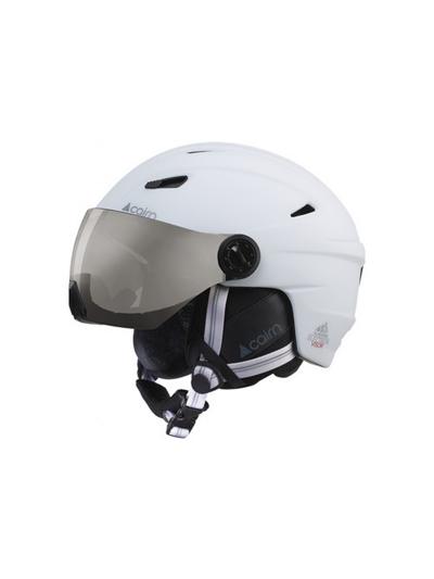 CAIRN ELECTRONE VISOR Smučarska čelada z vizirjem - mat bela