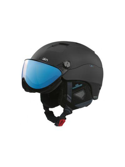 CAIRN SPECTRAL MGT2 Smučarska čelada z vizirjem - mat črna azure