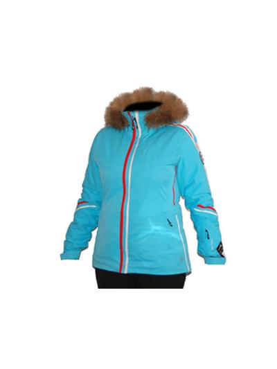 Ženska smučarska jakna Degre 7 Freez - turkizna