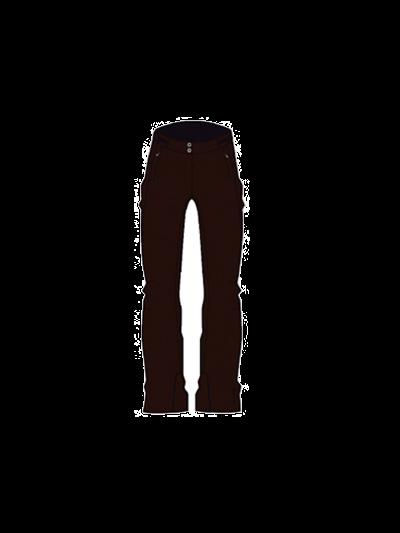 Ženske smučarske hlače Degre 7 Linda - črne (velikost 38)