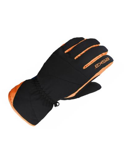 ESKA MALU zimske smučarske rokavice - črne/oranžne