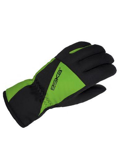 Zimske otroške rokavice Eska LEXOR - črne/zelene