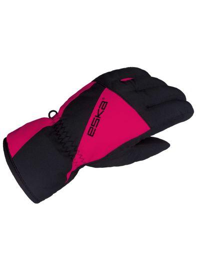 Otroške zimske rokavice Eska LEXOR - črne/roza