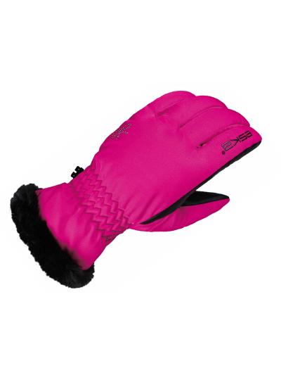 Ženske zimske smučarske rokavice ESKA COCOLELLA - roza