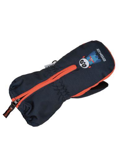 Zimske otroške rokavice Eska Baby BANG - oranžne/navy
