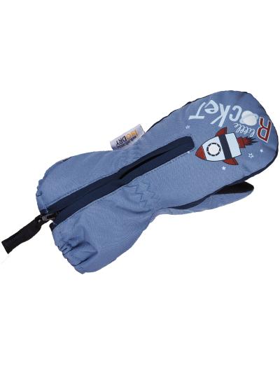 Zimske baby rokavice ESKA BANG - navy / svetlo modre
