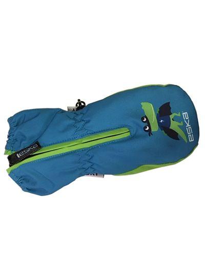 Zimske otroške rokavice Eska Baby BANG - zeleno/modre