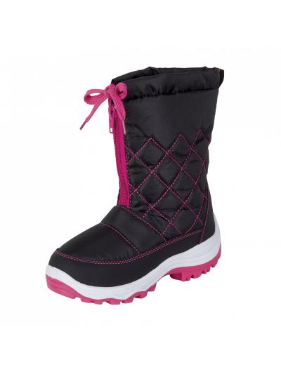 LHOTSE 8516m Fizzy otroški vodoodporni zimski škornji - črni/roza