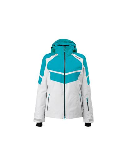 Ženska smučarska jakna GOLDWIN - turkizna/bela