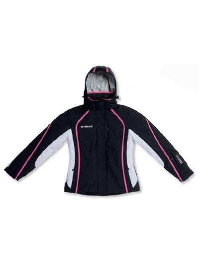 Ženska smučarska jakna DS 53 - črno-bela-pink