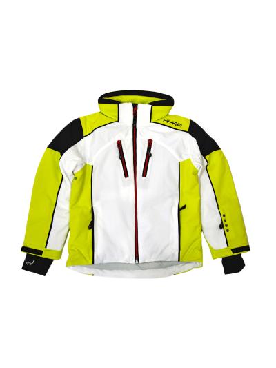 Otroška smučarska jakna HYRA Coira Universal - bela/limeta