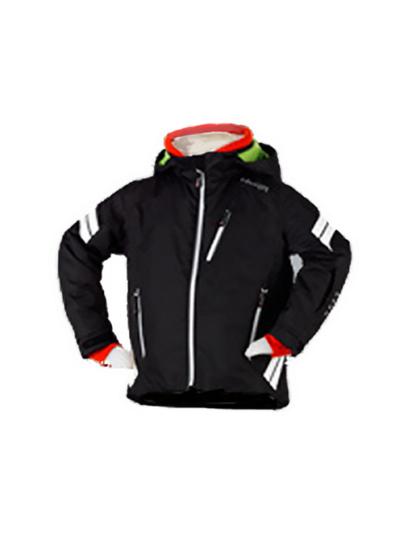 Otroška smučarska jakna Hyra Easy Line - črna/bela