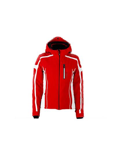 Ženska smučarska jakna HYRA Race - rdeča/bela