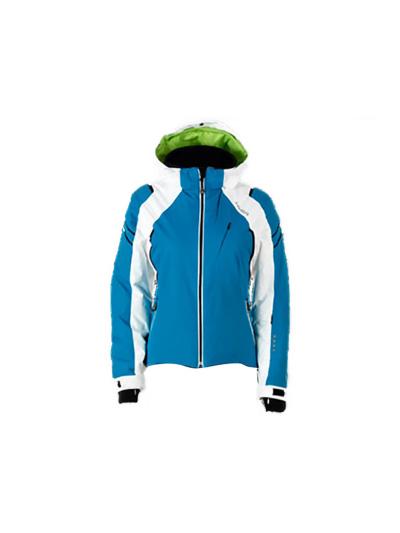 Ženska smučarska jakna HYRA Easyline - turkizna/bela