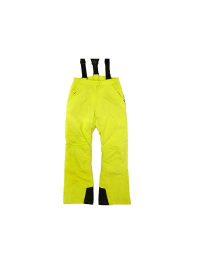 Ženske smučarske hlače HYRA Universal - limeta