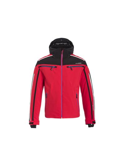 Moška smučarska jakna Hyra Universal Chur - rdeča/črna