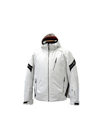 Moška smučarska jakna HYRA Easyline - bela / črna