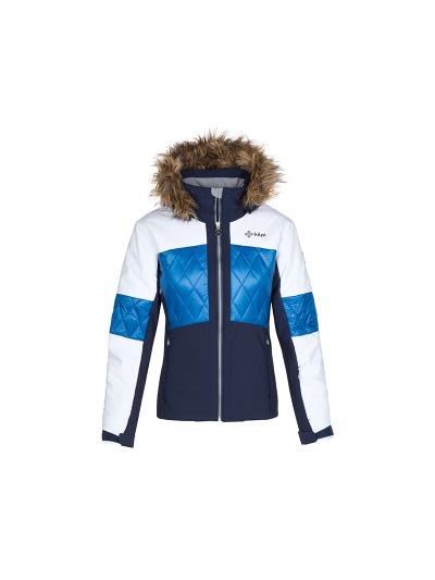 Ženska smučarska jakna Kilpi ELZA - modra/bela