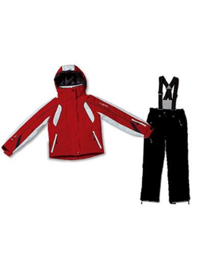 Otroški smučarski komplet - jakna in hlače McRoss - rdeč/črn