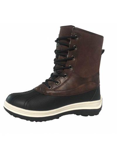 Moški vodoodporni zimski čevlji LHOTSE 8516m Papou  - rjavi