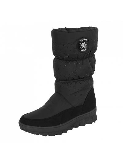 LHOTSE 8516m Meygal ženski vodoodporni zimski čevlji - črni