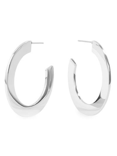 Uhani MIA Minimal Bold Hoop - srebrni