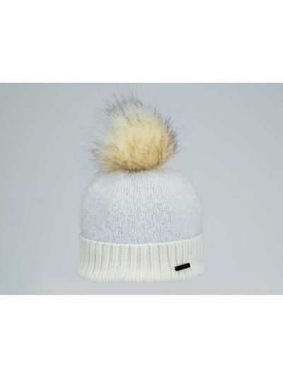 Ženska zimska kapa NORTON z bleščicami - bež