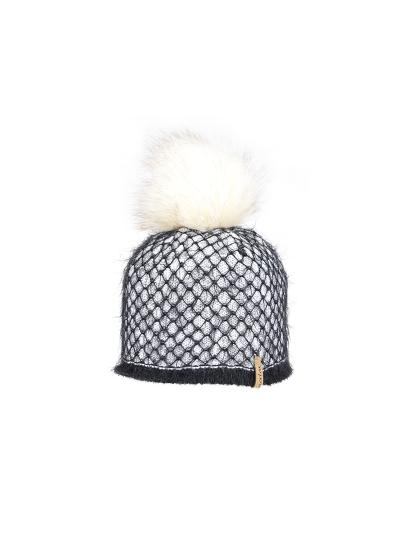 Ženska zimska kapa NORTON 8386K - belo/črna