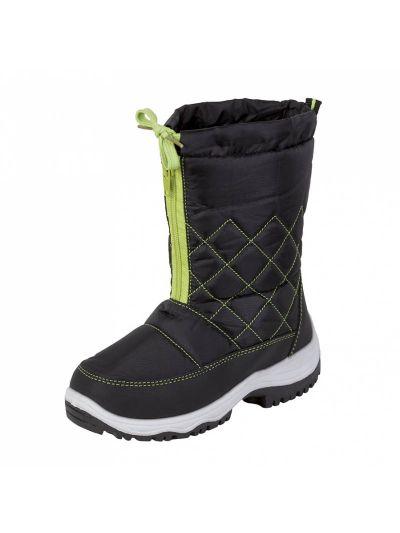 Otroški vodoodporni zimski škornji LHOTSE 8516m Fizzy - črni/lime
