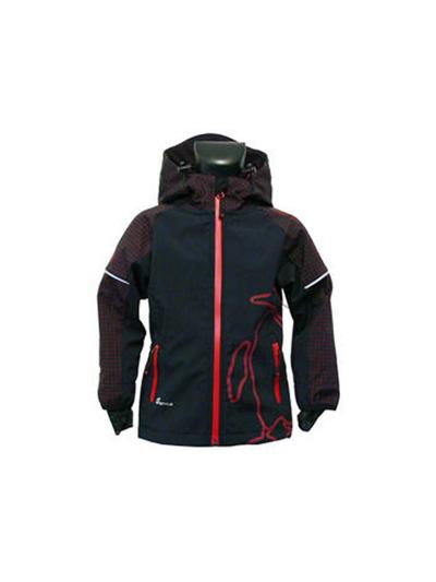 Otroška softshell jakna O'STYLE - črna/rdeča