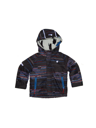 Otroška smučarska jakna O'STYLE Andre PRINT - črna