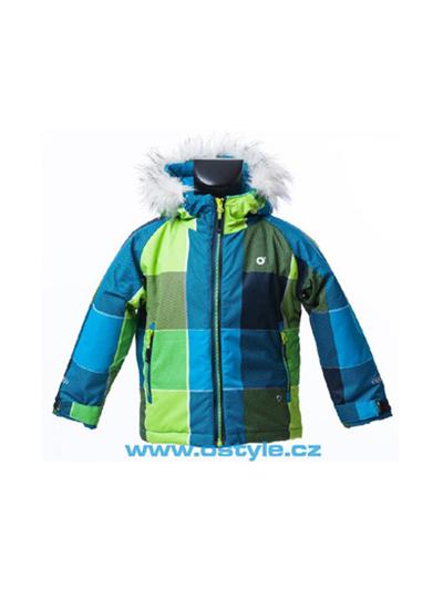 Otroška smučarska jakna O'STYLE - zelena/modra