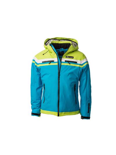 Otroška smučarska jakna O'STYLE ANGULUS modra/zelena