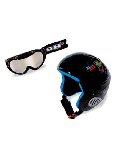 Komplet smučarska čelada in očala SH+ ZIGZAG Nain črne barve