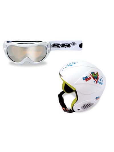 Komplet smučarska čelada in očala SH+ ZIGZAG Nain bele barve