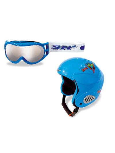 Komplet smučarska čelada in očala SH+ ZIGZAG Nain modre barve