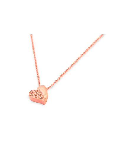 Ženska ogrlica MIA HEART II - rose gold