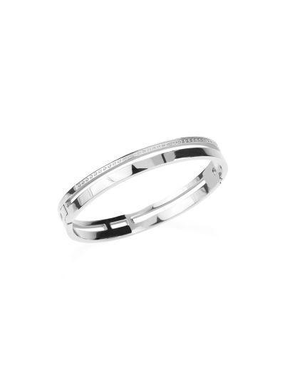 Ženska zapestnica MIA Ring Crystal - srebrna