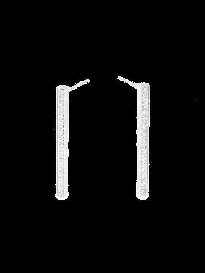 Ženski uhani MIA Long Bar Stud - srebrni