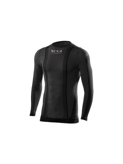 Majica z dolgimi rokavi SIXS TS2 črna carbon